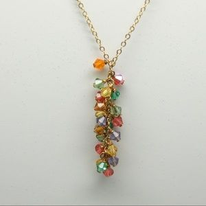 Jewelry - Multi stone cascade crystal necklace